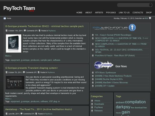 PsyTechTeam - музикален портал