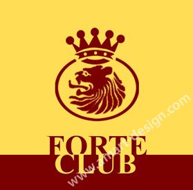 Форте Клуб - лого дизайн, клиентски карти